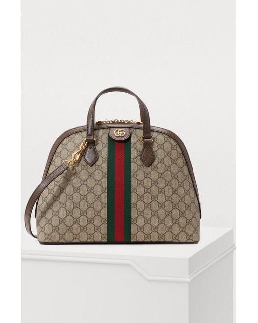 d99f0cd75020 Gucci - Natural Ophidia GG Supreme Shoulder Bag - Lyst ...
