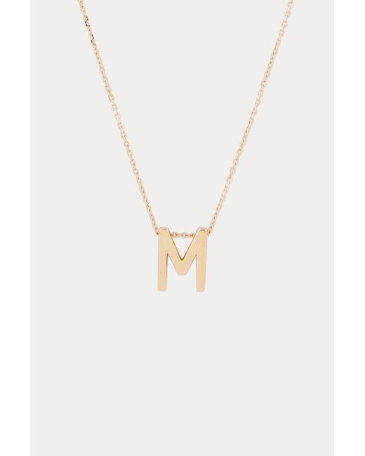 Vanrycke - Metallic Alphabet Necklace M - Lyst