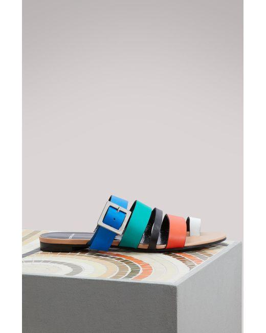 Pierre Hardy - Blue Dani Leather Mules - Lyst