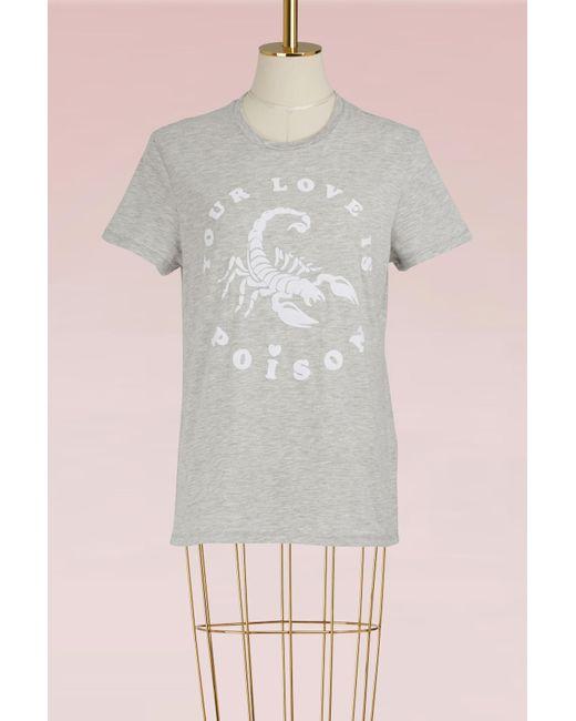 Zoe Karssen | Gray Cotton T-shirt | Lyst