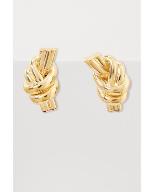 J.W. Anderson - Metallic Knot Earrings - Lyst