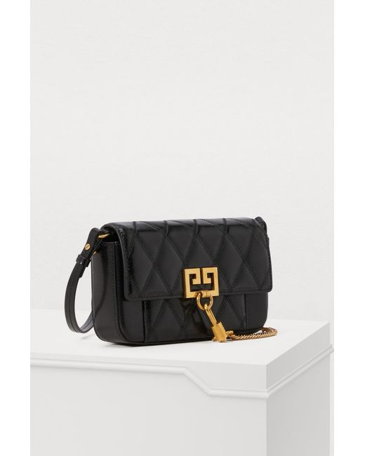 e027def9fd31 ... Givenchy - Black Mini Pocket Bag In Diamond Quilted Leather - Lyst ...