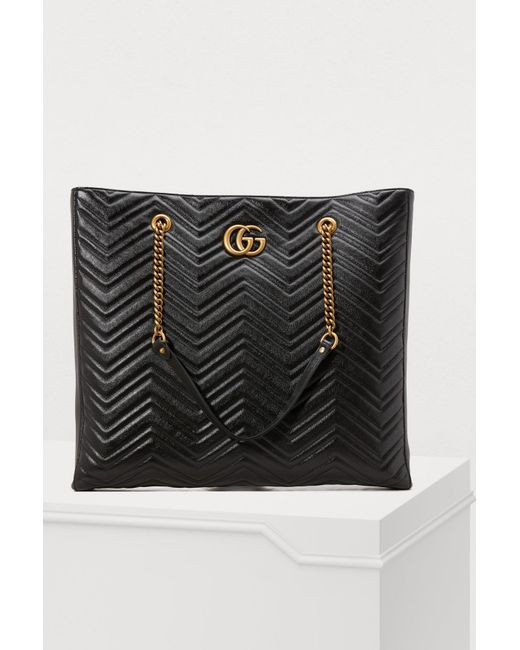 ba84fb1b363c Gucci GG Marmont Gm Tote in Black - Save 3% - Lyst