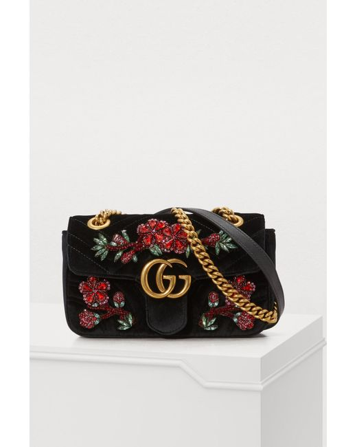 Gucci - Multicolor Gg Marmont Velvet Mini Bag - Lyst