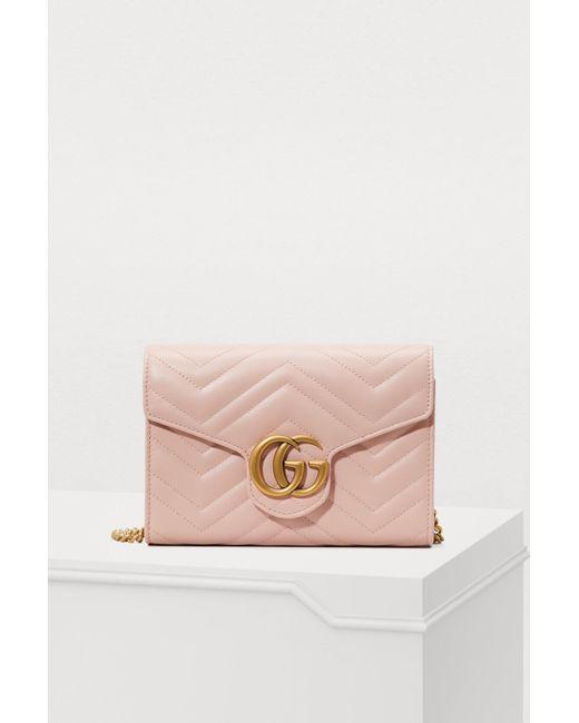 Gucci - Pink GG Marmont Matelassé Shoulder Bag - Lyst