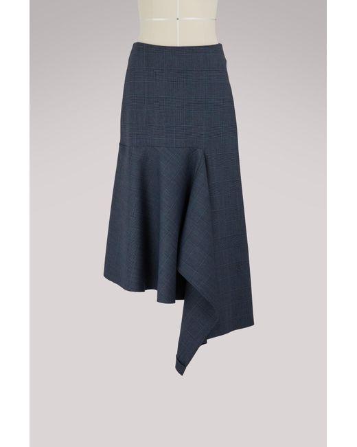 Balenciaga - Blue Godet Skirt - Lyst