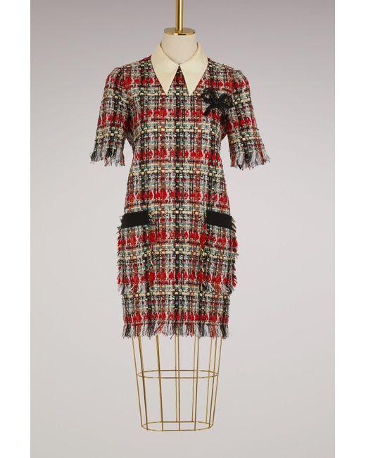 Gucci   Tweed Multicolor Dress   Lyst