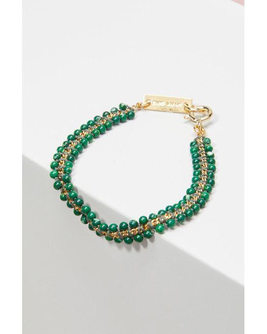 Isabel Marant | Green Brass Bracelet | Lyst