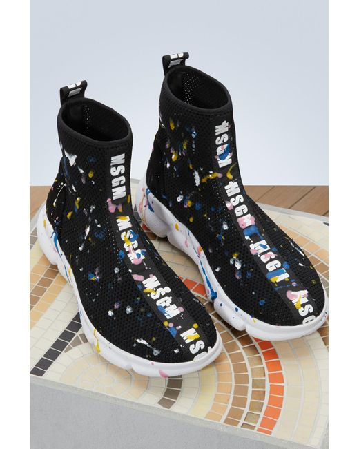 Drip sock sneakers Msgm wxdUmfAWn