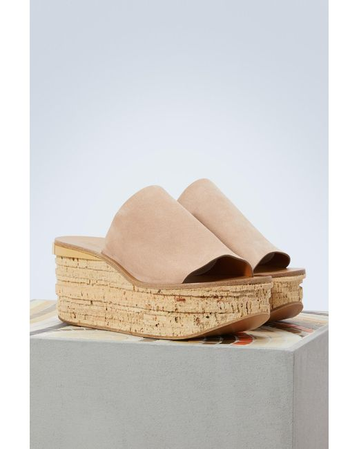 5afd6b789eb0 ... Chloé - Multicolor Camille Leather Mules - Lyst ...
