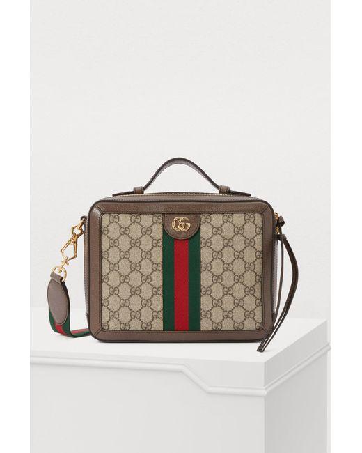 60d7aec8980 Gucci - Natural Ophidia Shoulder Bag - Lyst ...