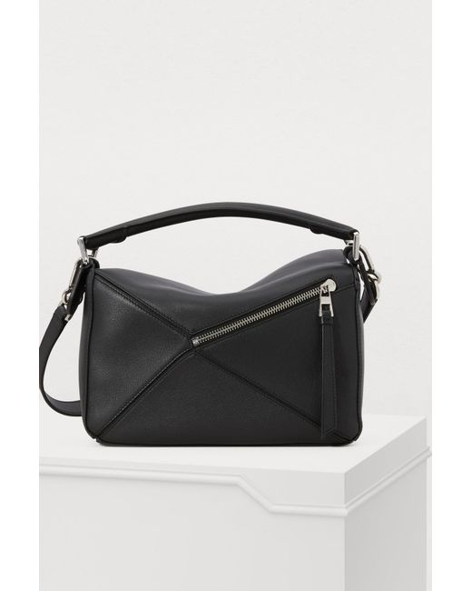 53bbe15fe296 ... Loewe - Black Puzzle Small Bag - Lyst ...