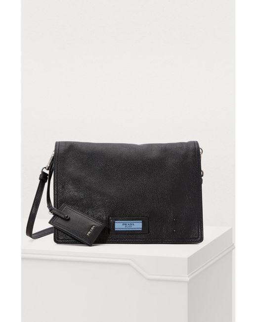 fd6228630a4a Prada - Black Etiquette Shoulder Bag - Lyst ...