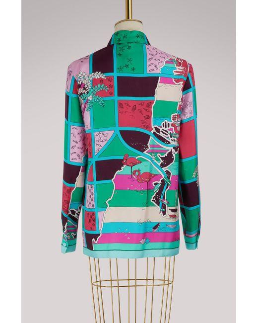 Florida printed silk shirt Emilio Pucci Outlet Shop For eJjBlB