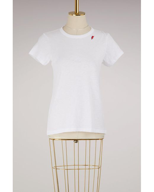 Rag & Bone - White The Tee With Thunder Bolt Embroidery - Lyst