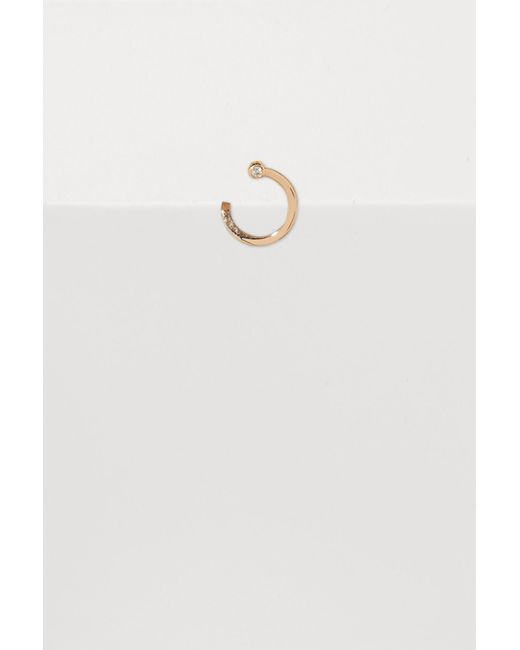 Ofée - White Abstraction Left Mini Single Hoop Earring - Lyst