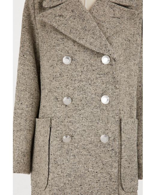 86bd839a3da9 ... Tory Burch - Gray Kinsley Coat - Lyst ...