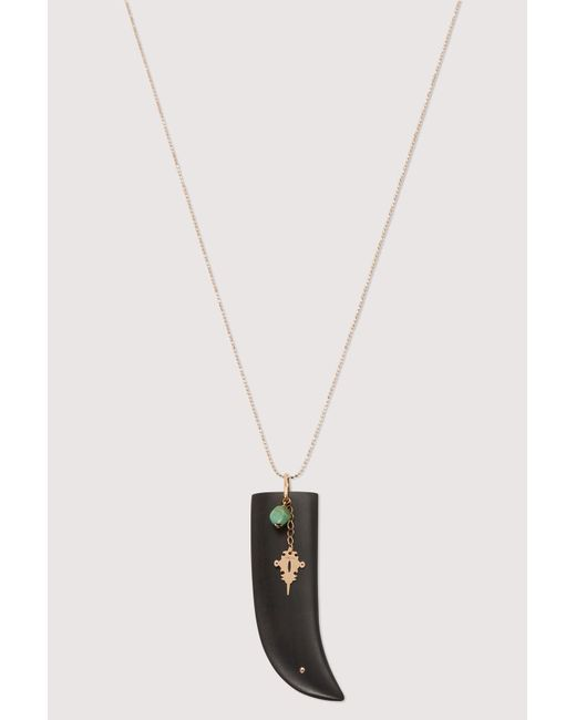 Ginette NY - Multicolor Ebony And Turquoise Pendant Necklace - Lyst