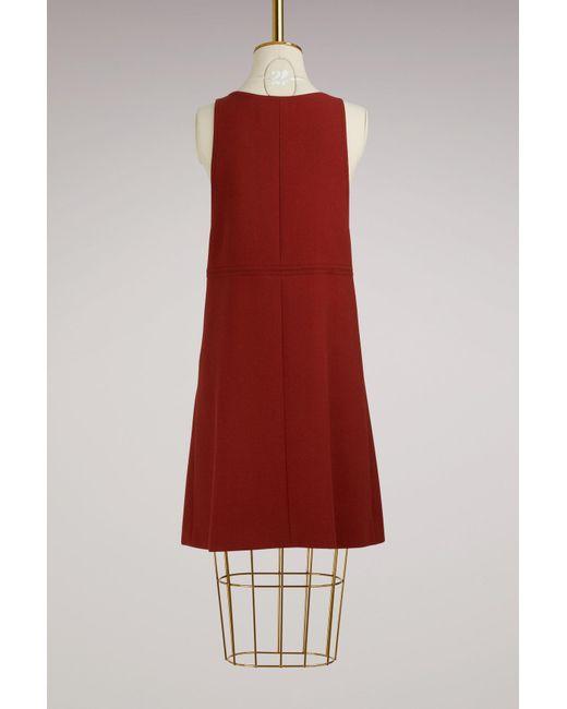 Buttoned Wool Mini Dress Chlo bG84Xp