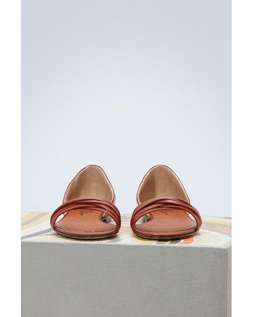 MICHEL VIVIEN Amy flat sandals