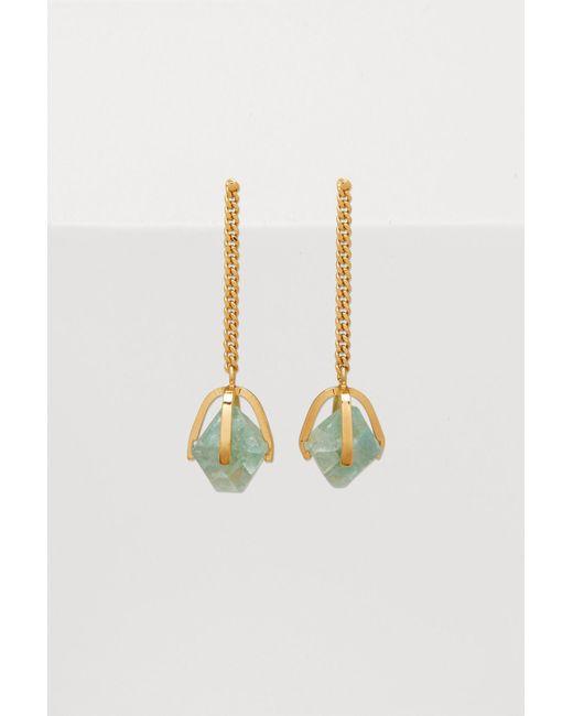Jil Sander - Metallic Quartz Earrings - Lyst
