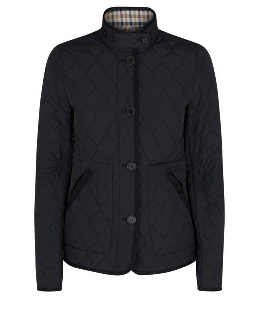 Aquascutum | Black Stoney Quilted Jacket | Lyst