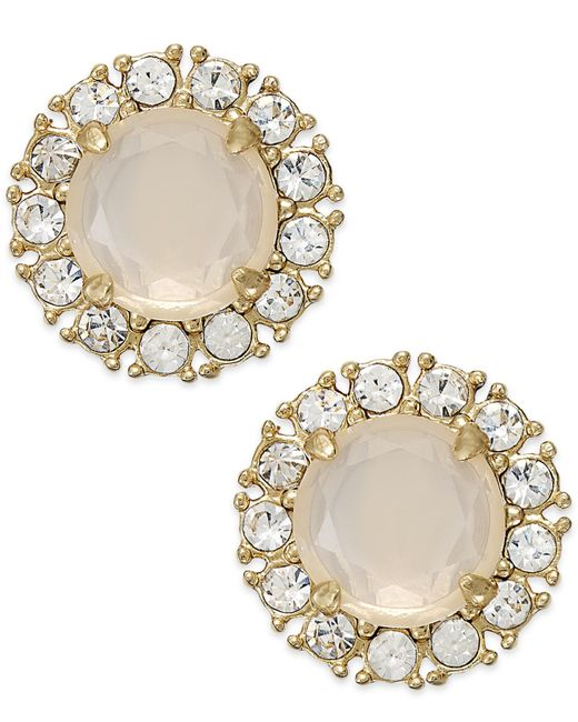 kate spade new york | White Gold-tone Stud Earrings | Lyst