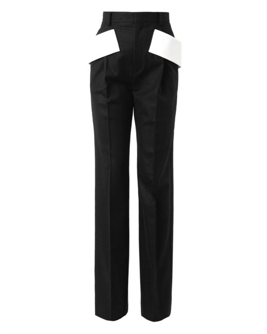 Givenchy | Black Side-sash Tailored Trousers | Lyst