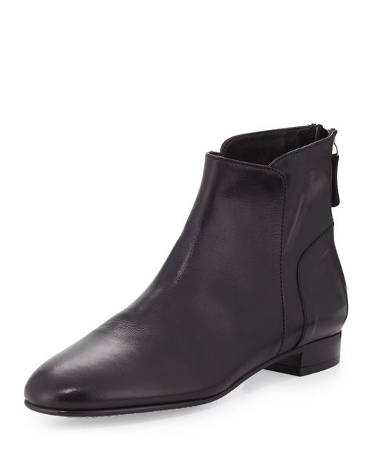 Delman | Black Myth Ankle Flat Boots | Lyst