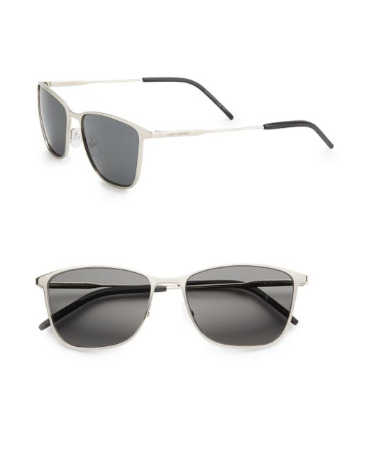 Saint Laurent   Metallic 54mm Aviator Sunglasses   Lyst