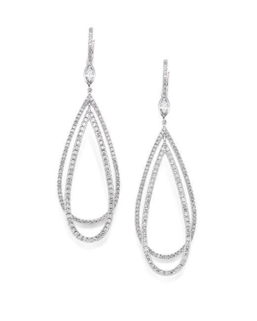 Kwiat | Metallic Echo Diamond & 18k White Gold Teardrop Earrings | Lyst