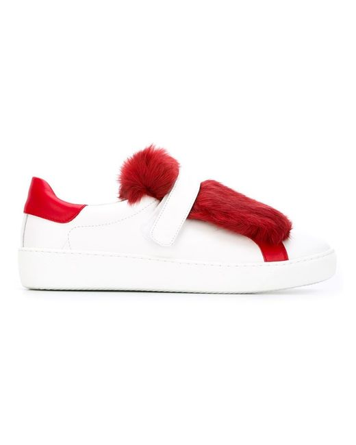 Moncler | White 'lucie' Sneakers | Lyst