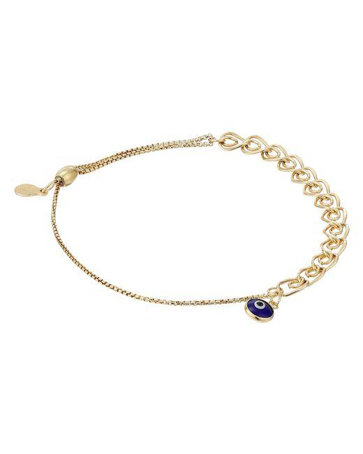 ALEX AND ANI | Metallic Evil Eye Heart Pull Chain Bracelet | Lyst