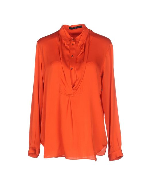 Sly010   Orange Blouse   Lyst