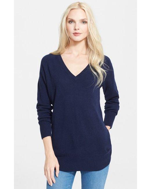 Equipment | Blue 'asher' V-neck Cashmere Sweater | Lyst