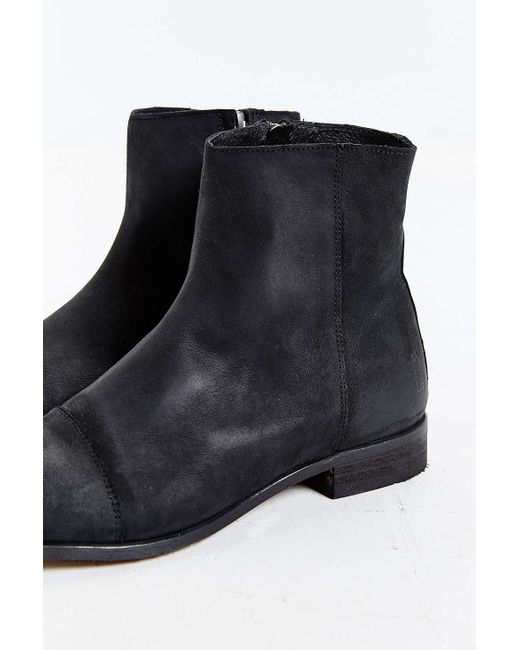 shoe the leeds boot in black for lyst