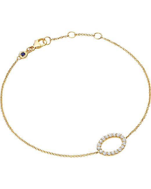 Astley Clarke | Metallic 14ct Yellow Gold Halo Diamond Bracelet | Lyst