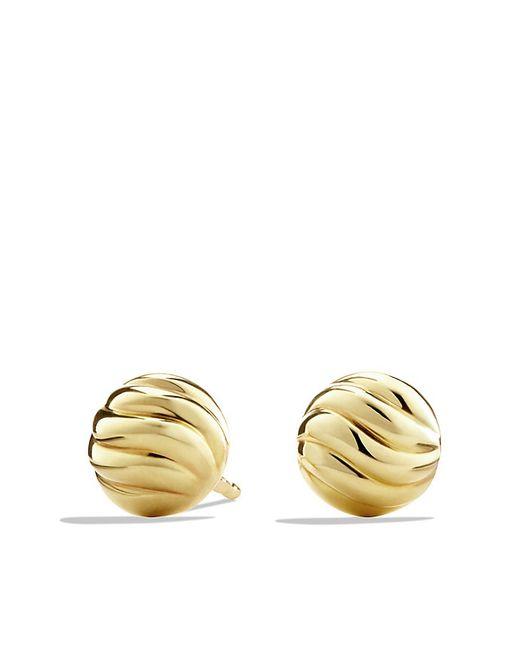 David Yurman | Metallic Sculpted Cable Stud Earring In 18k Gold | Lyst