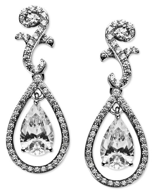 Arabella | Metallic Swarovski Zirconia Teardrop Earrings (9 Ct. T.w.) | Lyst
