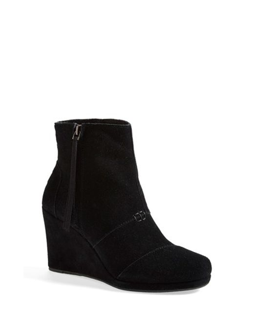 TOMS | Black 'desert' Wedge High Bootie | Lyst