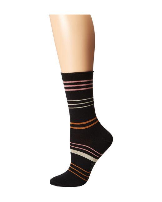 Falke   Black Stripe Sock   Lyst