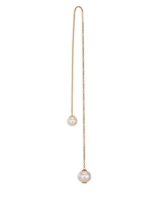 Delfina Delettrez | Metallic Roll In Stones Fishing For Compliments Dual Pearl & 18k Yellow Gold Single Earring | Lyst