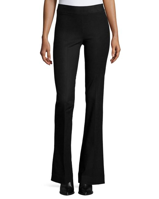 Avenue Montaigne | Black Bellini Stretch Flannel Flared Pants | Lyst