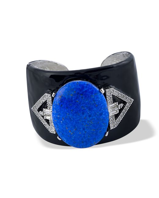 Kenneth Jay Lane | Black And Lapis Cuff | Lyst