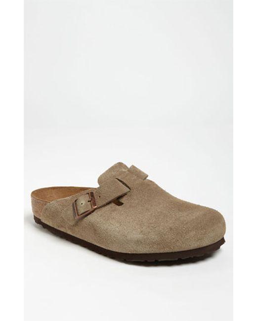 Birkenstock   Brown 'boston Soft' Clog for Men   Lyst