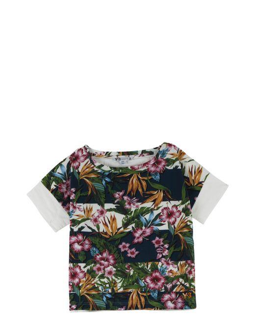 Y-3 | Black Flower T-shirt | Lyst