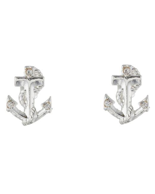 Betsey Johnson | Metallic Anchor Stud Earrings | Lyst