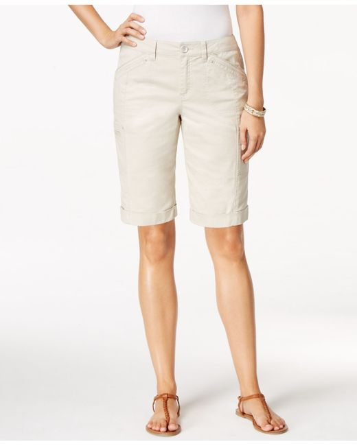 Style & Co. | Natural Cargo Shorts, Only At Macy's | Lyst