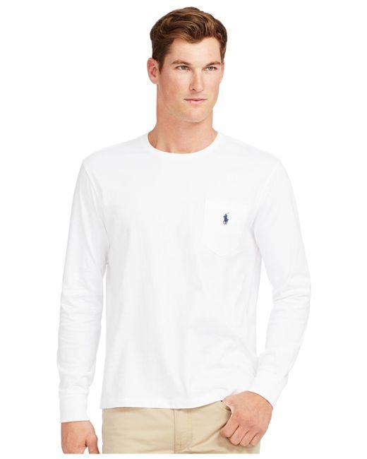 Polo Ralph Lauren   White Men's Long-sleeve Pocket Shirt for Men   Lyst