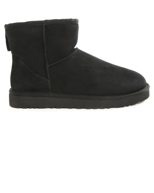 ugg classic mini black boots in suede m in black for men lyst. Black Bedroom Furniture Sets. Home Design Ideas